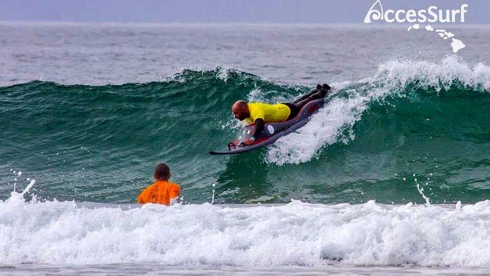 Adaptive surf al bagno degli americani di tirrenia - Bagno degli americani tirrenia ...